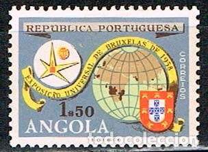 ANGOLA Nº 427, EXPOSICION UNIVERSAL DE BRUSELAS, NUEVO *** (Sellos - Extranjero - África - Angola)