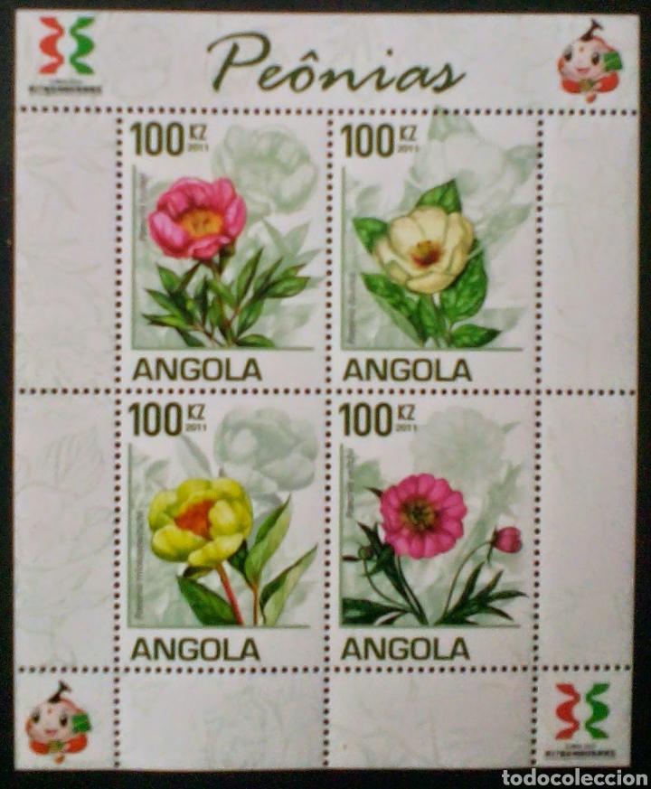 ANGOLA FLORES HOJA BLOQUE DE SELLOS NUEVOS (Sellos - Extranjero - África - Angola)