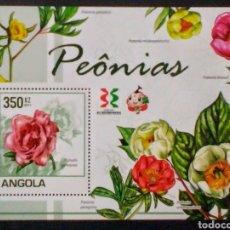 Sellos: ANGOLA FLORES HOJA BLOQUE DE SELLOS NUEVOS. Lote 184254812