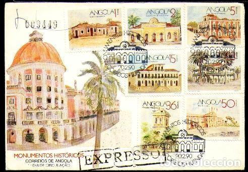 ANGOLA 1990 SPD MONUMENTOS HISTORICOS (Sellos - Extranjero - África - Angola)