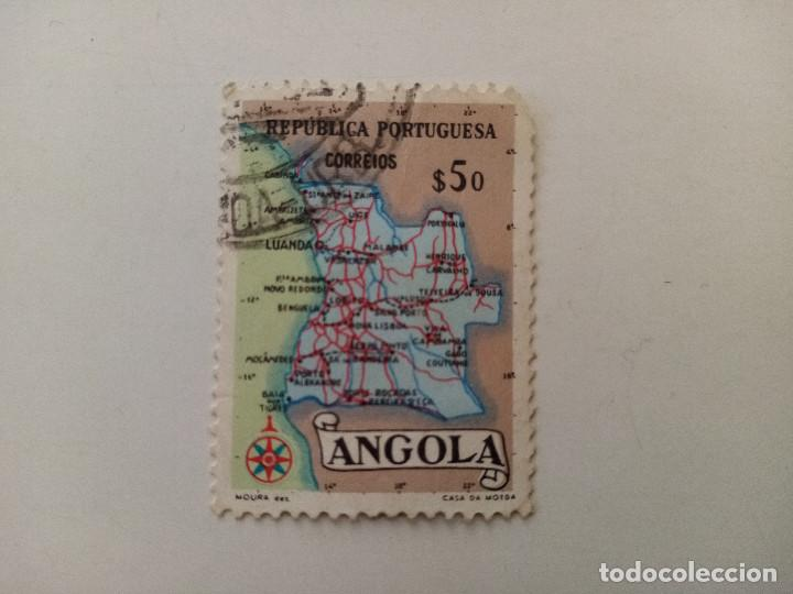 1955 MAPA DE ANGOLA. PROVINCIA PORTUGUESA (Sellos - Extranjero - África - Angola)