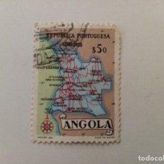 Sellos: 1955 MAPA DE ANGOLA. PROVINCIA PORTUGUESA . Lote 195611036