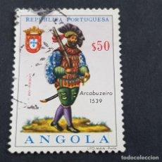 Sellos: ANGOLA PORTUGUESA,1966,UNIFORMES MILITARES, AFINSA 502, YVERT 520, SCOTT 513, USADO, ( LOTE AR ). Lote 196764311