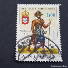 Sellos: ANGOLA PORTUGUESA,1966,UNIFORMES MILITARES, AFINSA 503, YVERT 521, SCOTT 514, USADO, ( LOTE AR ). Lote 196764342