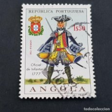 Sellos: ANGOLA PORTUGUESA,1966,UNIFORMES MILITARES, AFINSA 504, YVERT 522, SCOTT 515, USADO, ( LOTE AR ). Lote 196764470