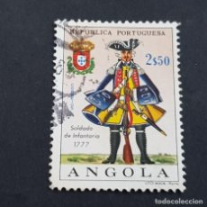Sellos: ANGOLA PORTUGUESA,1966,UNIFORMES MILITARES, AFINSA 506, YVERT 524, SCOTT 517, USADO, ( LOTE AR ). Lote 196764515