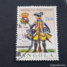 Sellos: ANGOLA PORTUGUESA,1966,UNIFORMES MILITARES, AFINSA 506, YVERT 524, SCOTT 517, USADO, ( LOTE AR ). Lote 196764575