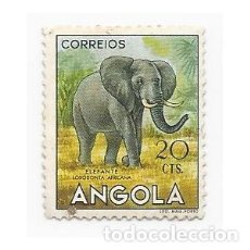 Sellos: SELLO ANGOLA COLONIA PORTUGUESA ELEFANTE 20 CTS.. Lote 203266043