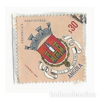 SELLO ANGOLA COLONIA PORTUGUESA VILA DE MUXIMA 30 (Sellos - Extranjero - África - Angola)