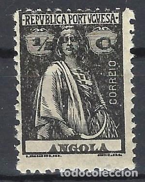 ANGOLA 1914-24 - CERES, PAPEL NORNAL - SELLO NUEVO ** (Sellos - Extranjero - África - Angola)