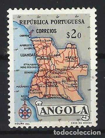 ANGOLA 1955 - MAPA - SELLO NUEVO C/F* (Sellos - Extranjero - África - Angola)
