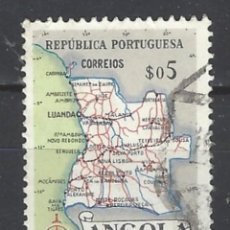 Sellos: ANGOLA 1955 - MAPA - SELLO USADO. Lote 205531328