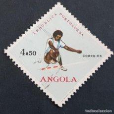 Sellos: ANGOLA PORTUGUESA,1962, DEPORTES, AFINSA 432, YVERT 440, SCOTT 437, USADO, ( LOTE AR ). Lote 206302657