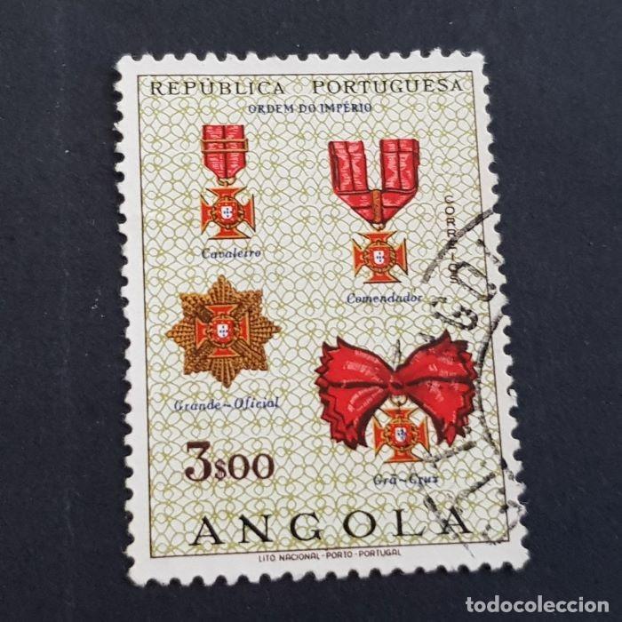 ANGOLA PORTUGUESA,1967, ÓRDENES HONORÍFICAS, AFINSA 526, YVERT 546, SCOTT 537, USADO, ( LOTE AR ) (Sellos - Extranjero - África - Angola)