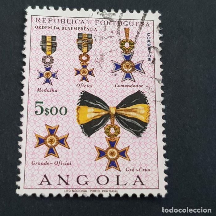 ANGOLA PORTUGUESA,1967, ÓRDENES HONORÍFICAS, AFINSA 528, YVERT 548, SCOTT 539, USADO, ( LOTE AR ) (Sellos - Extranjero - África - Angola)