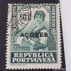 Sellos: AZORES AÇORES, 1925, CENT. NCTO. CASTELO BRANCO, AFINSA 230, YVERT 237, SCOTT 248,USADO, ( LOTE AR ). Lote 207266792