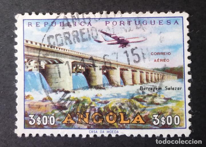 1965 ANGOLA INFRAESTRUCTURAS PRESA DE SALAZAR (Sellos - Extranjero - África - Angola)