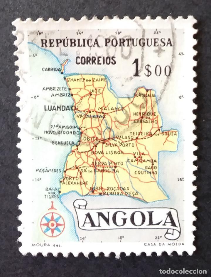 1955 ANGOLA MAPA DE ANGOLA (Sellos - Extranjero - África - Angola)