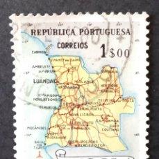 Sellos: 1955 ANGOLA MAPA DE ANGOLA. Lote 221573056