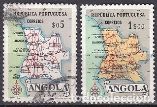 LOTE DE SELLOS - ANGOLA - MAPAS - (AHORRA EN PORTES, COMPRA MAS) (Sellos - Extranjero - África - Angola)