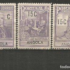 Sellos: ANGOLA COLONIA PORTUGUESA YVERT NUM. 226/228 SERIE COMPLETA NUEVA SIN GOMA. Lote 231714115