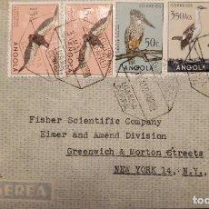 Sellos: O) 1952 ANGOLA, AVES - CERYLE, OTIS, PIO XII. NÚMERO DE LA SEÑORA DE FÁTIMA, VÍA LEO P.A.A, A EE. UU. Lote 232517115