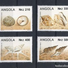 Sellos: ANGOLA 1993 - YT 884/7** - CRUSTÁCEOS Y MOLUSCOS - MNH. Lote 235698860
