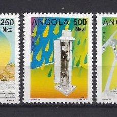 Sellos: ANGOLA 1993 - YT 888/90** - INSTRUMENTOS METEOROLÓGICOS - MNH. Lote 235699245