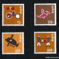 Sellos: ANGOLA 1993 - YT 891/4** - ARTE QUIOCA - MNH. Lote 235699590