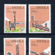 Sellos: ANGOLA 1993 - YT 903/6** - PIPAS TABAQUERAS - MNH. Lote 235699870