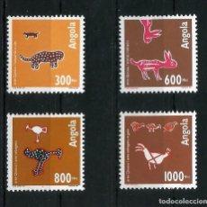 Sellos: ANGOLA 1993 - YT 907/10** - ARTE QUIOCA - MNH. Lote 235700120