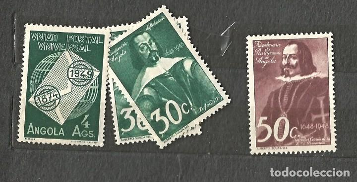 ANGOLA 1948 - TRICENTENARIO DE LA CREACIÓN DE ANGOLA - 3 VALORES - 4 SELLOS NUEVOS (Sellos - Extranjero - África - Angola)