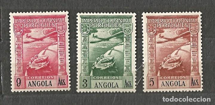 ANGOLA 1938 - IMPERIO COLONIAL PORTUGUÉS - 3 VALORES - NUEVOS (Sellos - Extranjero - África - Angola)