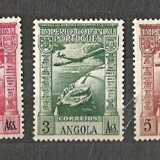 Sellos: ANGOLA 1938 - IMPERIO COLONIAL PORTUGUÉS - 3 VALORES - NUEVOS. Lote 254531315