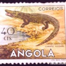 Sellos: MICHEL AO 372 - ANGOLA - 1953 - AFRICAN WILDLIFE - NILE CROCODILE (CROCODYLUS NILOTICUS). Lote 289426758