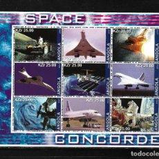 Sellos: ANGOLA 2002, HOJA BLOQUE CONCORDE ESPACIO. MNH.. Lote 291488013
