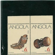 Sellos: ANGOLA 1991, SERIE 820/23 INSTRUMENTOS MUSICALES . MNH.. Lote 291488848