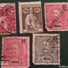 Sellos: LOTE 5 SELLOS ANGOLA PORTUGUESA. Lote 294074108