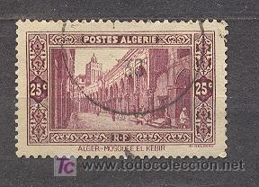 ALGERIE, 1936-37, MOSQUEE EL KEBIR A ALGER (Sellos - Extranjero - África - Argelia)