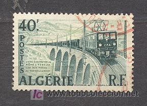 ALGERIE, 1956-58, LINEA ELECTRICA BÔNE TEBESSA (Sellos - Extranjero - África - Argelia)
