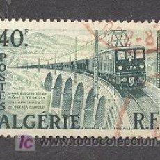 Sellos: ALGERIE, 1956-58, LINEA ELECTRICA BÔNE TEBESSA. Lote 20798663