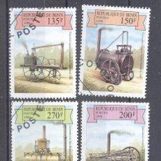 Sellos: BENIN (ANTIGUO DAHOMEY) 1999,LOCOMOTORAS- YVERT TELLIER 908,909,910,911,912, PRECANCELADO. Lote 23003348