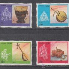Sellos: ARGELIA 818/21 SIN CHARNELA, INSTRUMENTOS DE MUSICA POPULAR . Lote 26691627