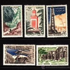 Francobolli: ARGELIA 364/68** - AÑO 1962 - PAISAJES Y MONUMENTOS. Lote 39196657