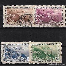 Sellos: ARGELIA 1938 CENTENARIO DE PHILIPPEVILLE SERIE COMPLETA. Lote 78262317