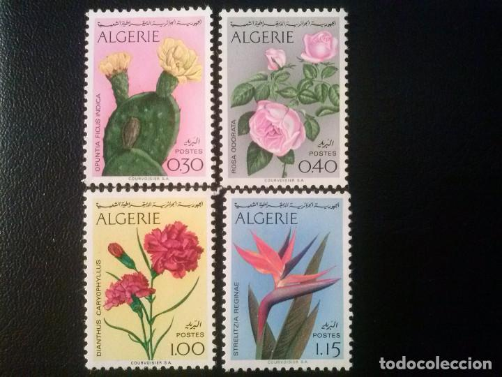 ARGELIA ALGÉRIE INDEPENDIENTE , YVERT Nº 568 -571 ** SERIE COMPLETA , FLORA 1973 (Sellos - Extranjero - África - Argelia)