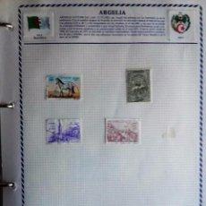 Sellos: ARGELIA, HOJA DE ÁLBUM CON 4 SELLOS . Lote 94252255