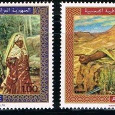 Sellos: ARGELIA - LOTE DE 2 SELLOS - PINTURAS (NUEVO) LOTE 1. Lote 97442299