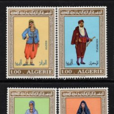 Sellos: ARGELIA 606/09** - AÑO 1975 - FOLKLORE - TRAJES REGIONALES. Lote 127754011