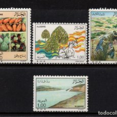 Sellos: ARGELIA 909/12** - AÑO 1987 - AGRICULTURA. Lote 129632859